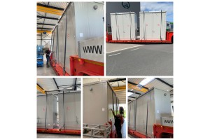 Brandwerende containers geleverd in Spanje