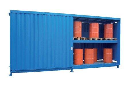 Stalen palletcontainer met schuifdeuren
