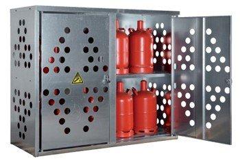 Enkelwandige gasflessenkasten voor kleine gasflessen en propaanopslag
