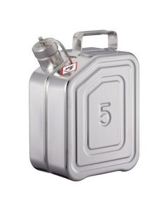 Veiligheids transport jerrycan van RVS 5 liter - UN gekeurd