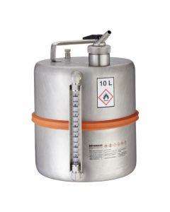 Veiligheidsvat 10 liter met fijndoseerkraan en peilglas