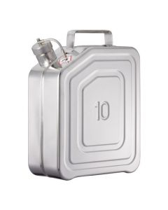 Veiligheids transport jerrycan van RVS 10 liter - UN gekeurd
