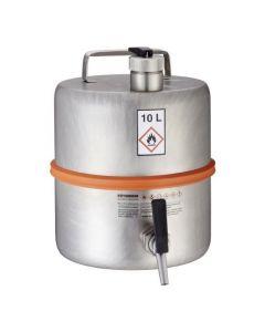 Veiligheidsvat 10 liter met tapkraan en overdrukventiel