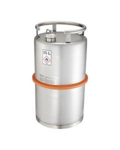 Veiligheidsvat van RVS met schroefdop en drukventiel 25 l