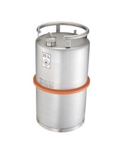 Veiligheids transportvat van RVS 25 liter - UN gekeurd