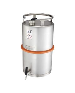 Veiligheidsvat 25 liter met tapkraan en overdrukventiel