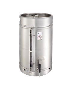 Veiligheidsvat 50 liter met tapkraan, overdrukventiel en peilglas