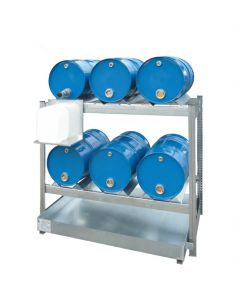 Aftapstelling voor 6 x 60 liter vaten, Aanbouwsegment