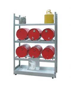 Aftapstelling 9 x 60 liter vaten Aanbouwsegment