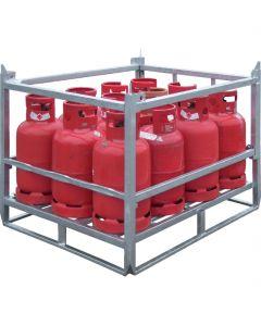 Gasflessenpallet voor propaan gasflessen, type GFP-1211