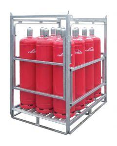 Gasflessenpallet voor 33 kg gasflessen | Bumax.nl