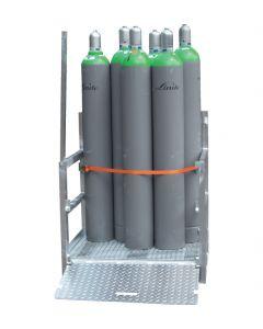 Gasflessenpallet voor 50 kg gascilinders