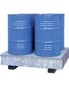 stalen lekbak type CW 4 voor 4 x 200-litervat - Bumax.com
