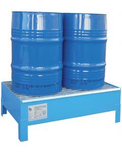 Stalen lekbak CW 60-2 voor 2 x 60 litervat - Bumax.nl