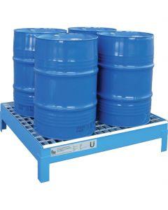 Stalen lekbak voor 4 x 60-litervaten type CW 60-4 van bumax