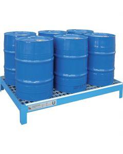 Stalen lekbak voor de opslag van 6 x 60-litervat conform PGS 15 - Bumax