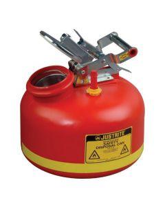 Justrite HDPE veiligheids verzamelkan 7,5 liter met RVS sluitwerk en vulindicator