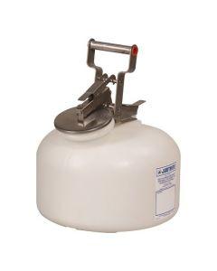 Justrite HDPE veiligheids verzamelkan 7,5 liter met RVS sluitwerk
