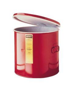 Justrite stalen dompelkan 19 liter met HDPE bekleding aan binnenzijde