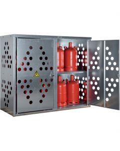 Stalen gasflessenkast met dubbele deur K-GFS 20