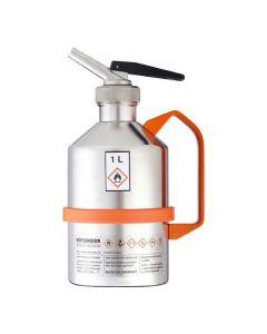 RVS veiligheidskan met 1 liter inhoud - gepolijst - Laboratorium uitvoering