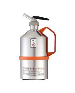 RVS veiligheidskan 2 liter - gepolijst - Laboratorium uitvoering