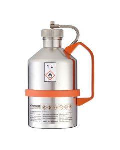 RVS veiligheidskan 1 liter schroefdop - gepolijst - Laboratorium uitvoering - L15-2103-B