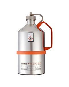 Veiligheidskan in RVS - laboratorium uitvoering - schroefdop - 2 liter inhoud