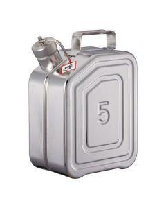 RVS Jerrycan 5 liter - schroefdop - L15-2113-B