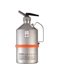 Veiligheidskan in RVS - industriële uitvoering - fijndoseerkraan 2 liter