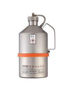 Veiligheidskan in RVS - industriële uitvoering - schroefdop - 2 liter inhoud