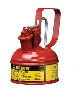 Justrite stalen veiligheidskan 0,5 liter, Type I - trekker opener
