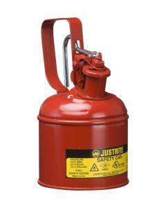 Justrite stalen veiligheidskan 1,0 liter, Type I - trekker opener