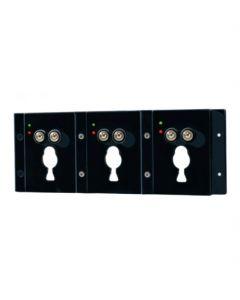 Oplader 12 / 24V voor drie Adalit L-10 helmlampen