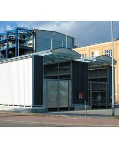 Systeemcontainer-opslaggebouw