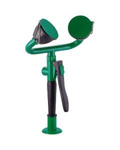 Knijp oogdouche dubbel, sproeikop 45º  voor bladmontage, Groen