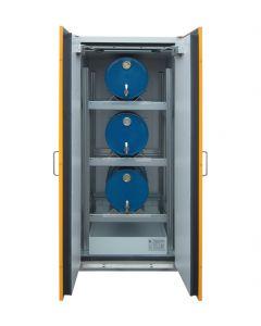 Brandwerende vatenkast SiS-FAS 90 / 900-360 voor 3 liggende 60 liter vaten