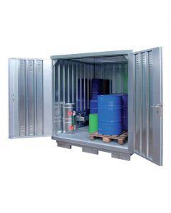 Geïsoleerde milieucontainer SLT2x2, voor geisoleerde opslag van gevaarlijke stoffen - Bumax