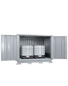 Milieucontainer voor 2 x IBC