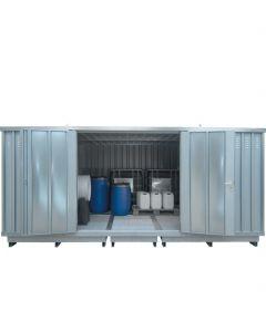 Stalen opslagcontainer van Bumax type SLH 4 x 3