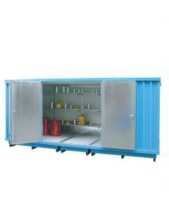 Stalen opslagcontainer van Bumax type SLH 5 x 2