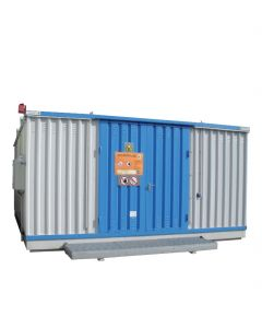 Stalen milieucontainer SLH 6 x 3 - extra breed