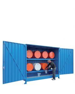 Stalen systeemcontainer WSC-F-E.2-30 - 8 vaten liggend