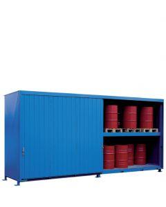 Stalen systeemcontainer met schuifdeuren, type WSC-F-E.2-60 - capaciteit: 12 europallets