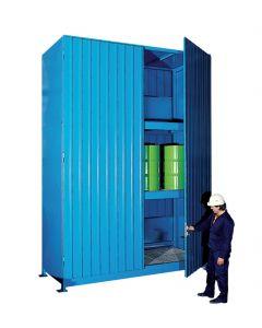 Stalen systeemcontainer WSC-F-E.3-30 - 12 vaten liggend